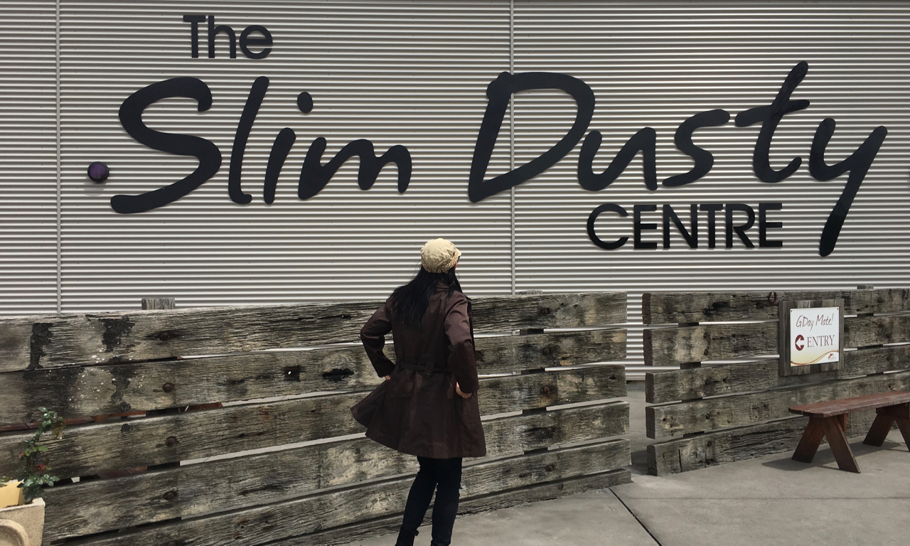 outside the Slim Dusty Centre in Kempsey