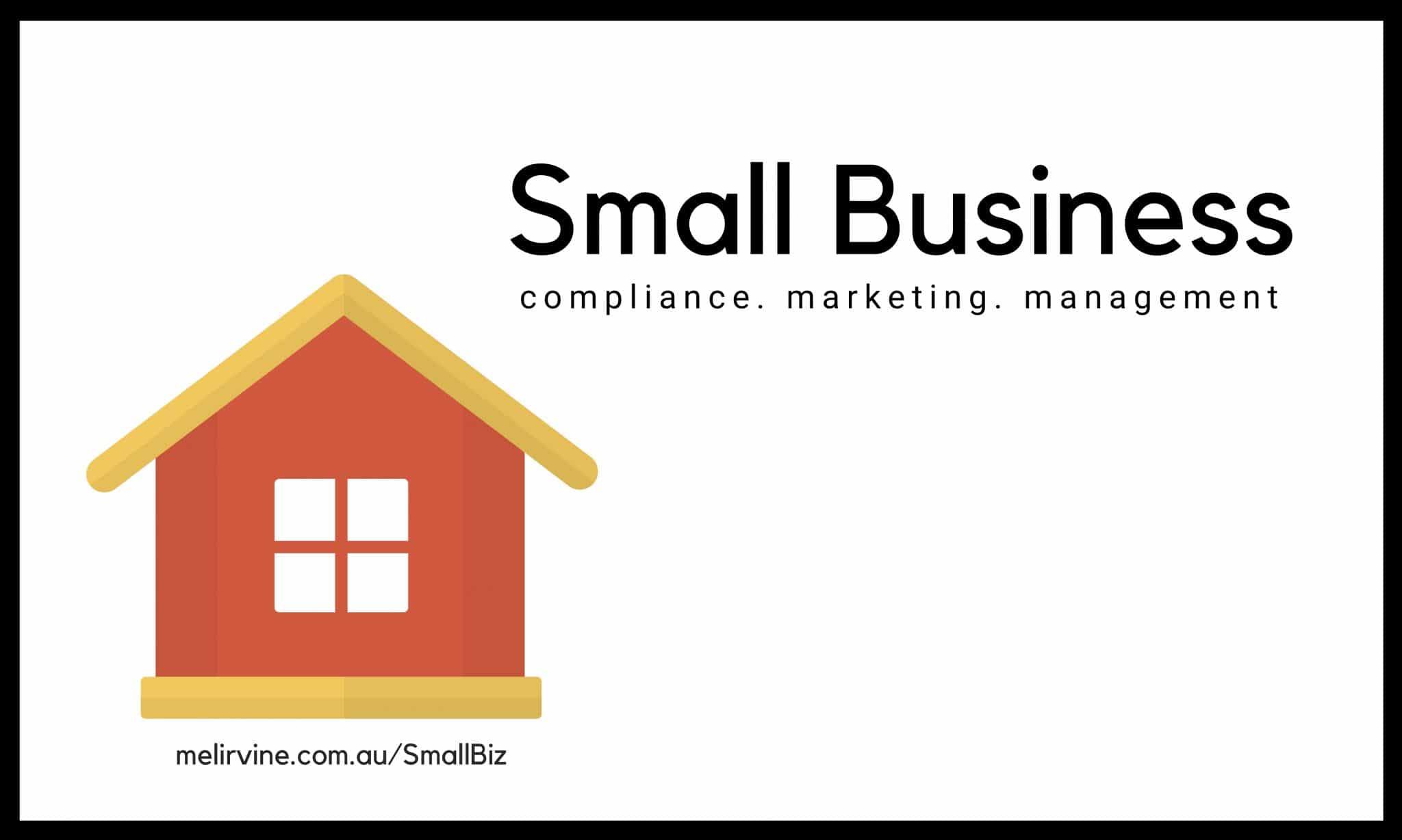 SMALLBIZ talking small business compliance, marketing and management @ Melinda J. Irvine