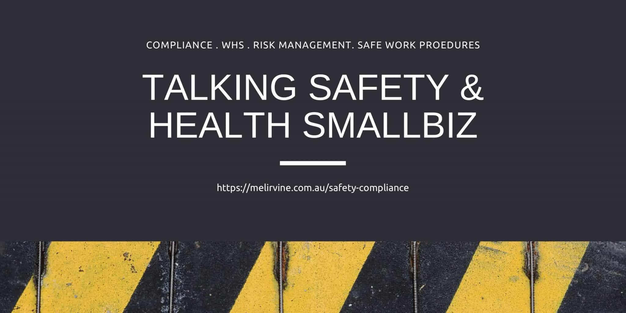 talking safety and health smallbiz with Melinda J. Irvine