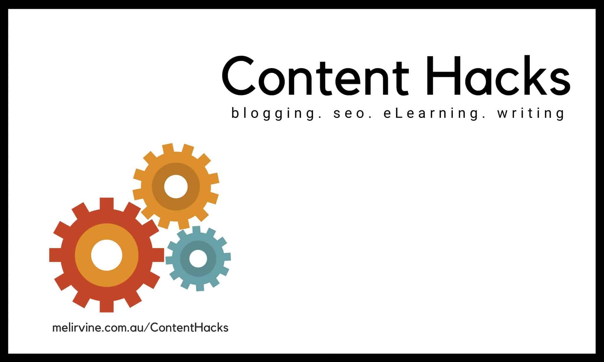 Content Hacks by Melinda J. Irvine